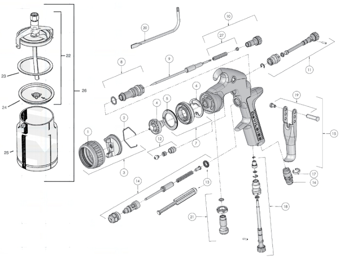 devilbiss spray parts diagram
